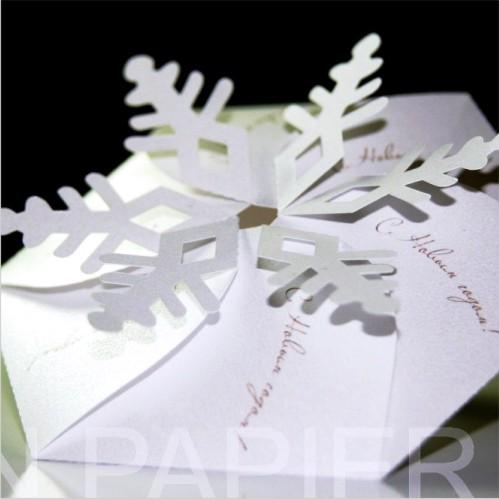 Открытка La fleur de la neige